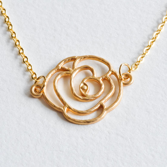 Rose Necklace - Aloraflora Jewelry