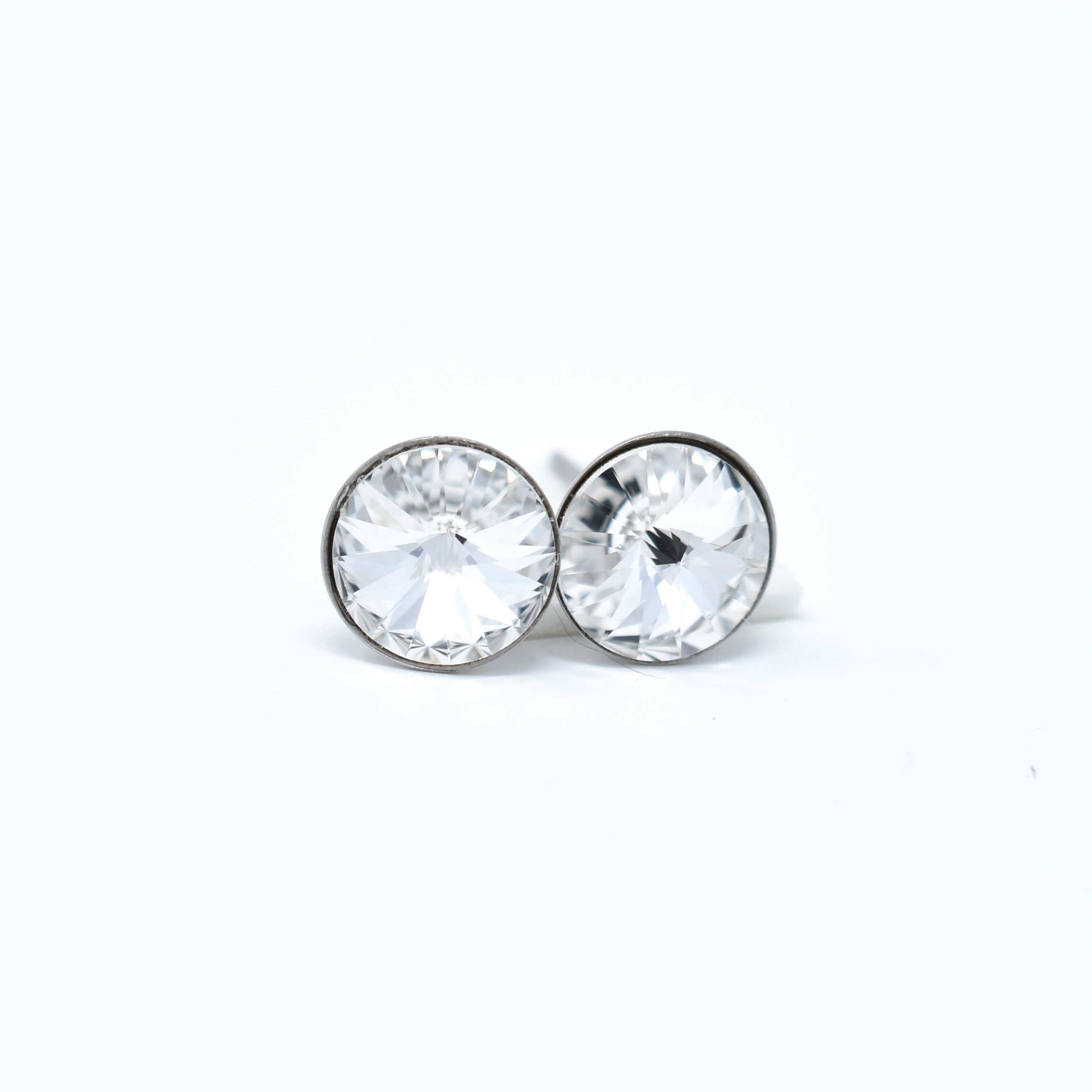 Stainless Steel Swarovski Studs - 8mm