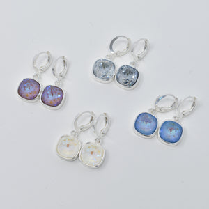 Square Drop Swarovski Earrings - 10mm