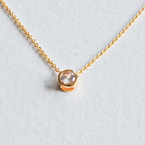 Crystal Bezel Necklace - Aloraflora Jewelry