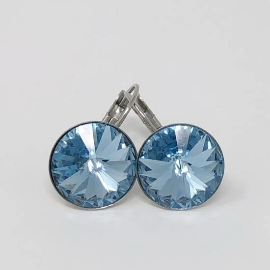 Swarovski Rivoli Stainless Steel Earrings - Aloraflora Jewelry