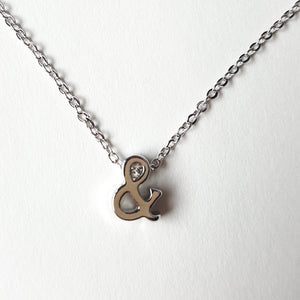 ampersand necklace in silver