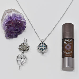 Lotus Essential Oil Pendant Necklace