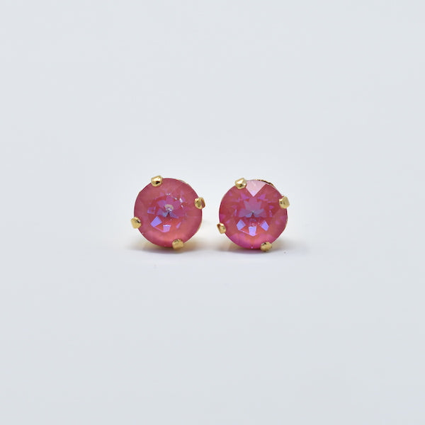 8mm Round Swarovski Earrings