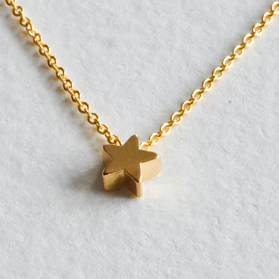 Aloraflora Jewelry - Gold Star Necklace