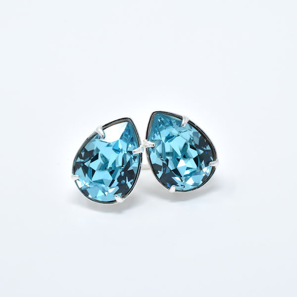Teardrop Swarovski Stud Earrings