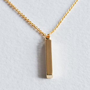 Vertical Bar Necklace - Aloraflora Jewelry