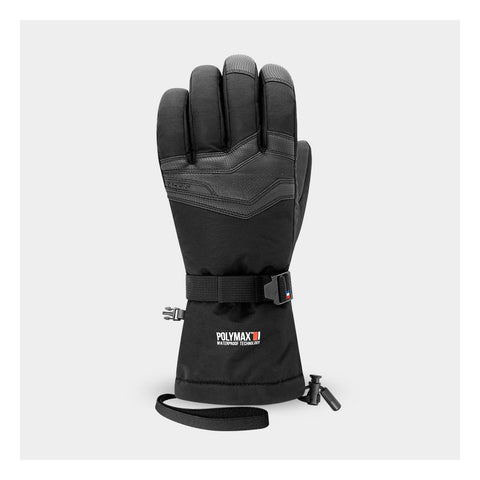Racer Logic 3 Black Mens Ski Gloves