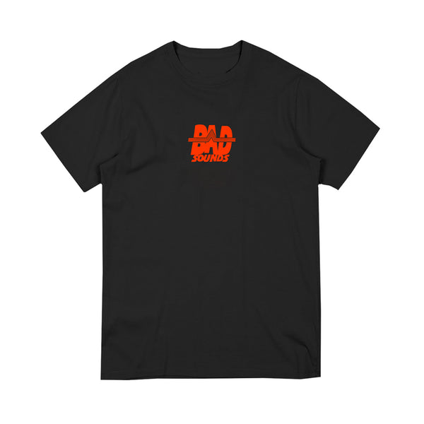 LOGO EMBROIDERED BLACK T-SHIRT