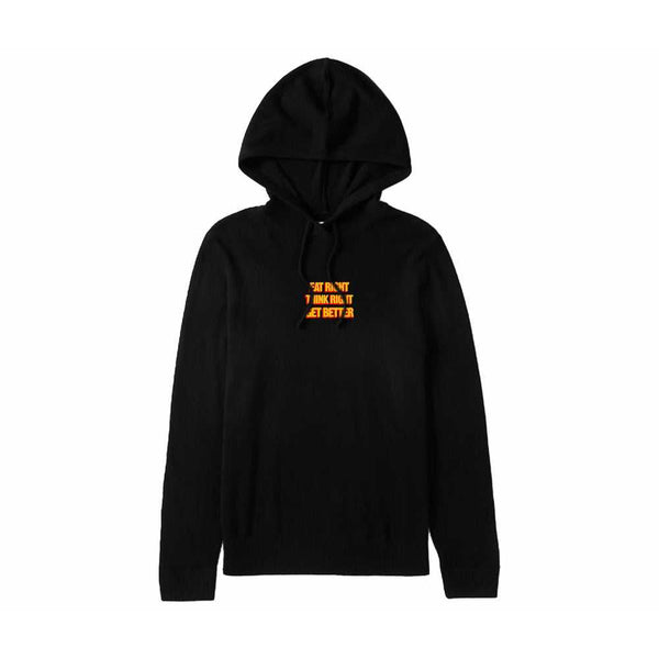 'EAT RIGHT THINK RIGHT GET BETTER' EMBROIDERED HOODIE