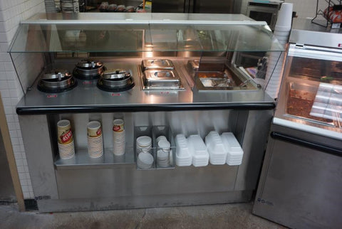 Custom Potato and Soup Bar with Dry Wedge