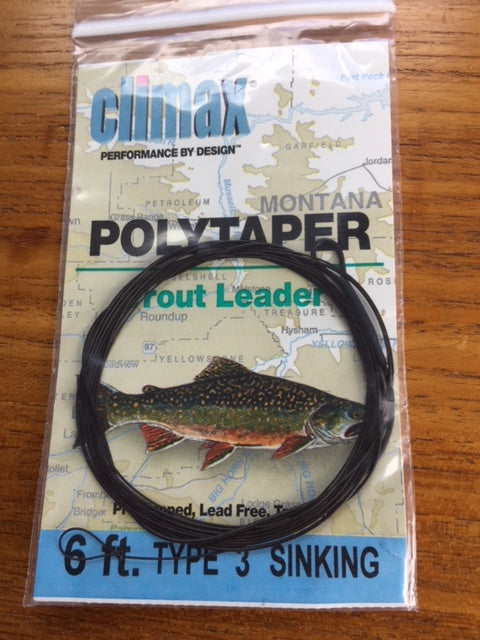 Climax Polytaper - 6 Ft. Trout Sinking Leader