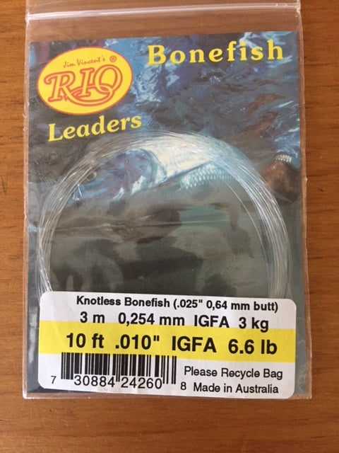RIO IGFA Knotless Bonefish Leader