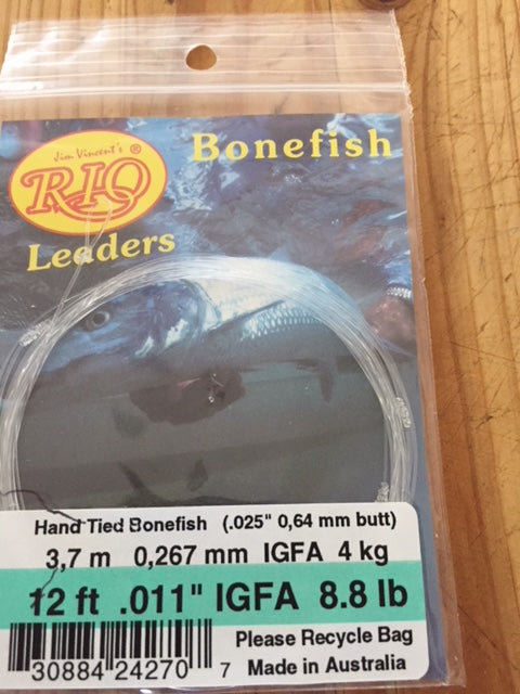 RIO IGFA Hand Tied Bonefish Leader