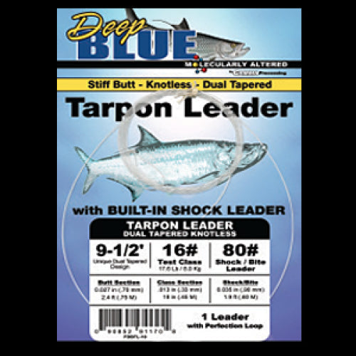Deep Blue Leaders - Dual Tapered Tarpon
