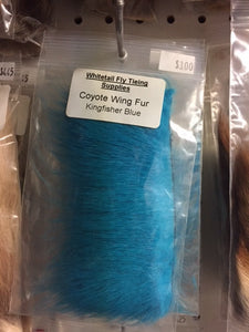 Coyote Skin Dyed Kingfisher Blue