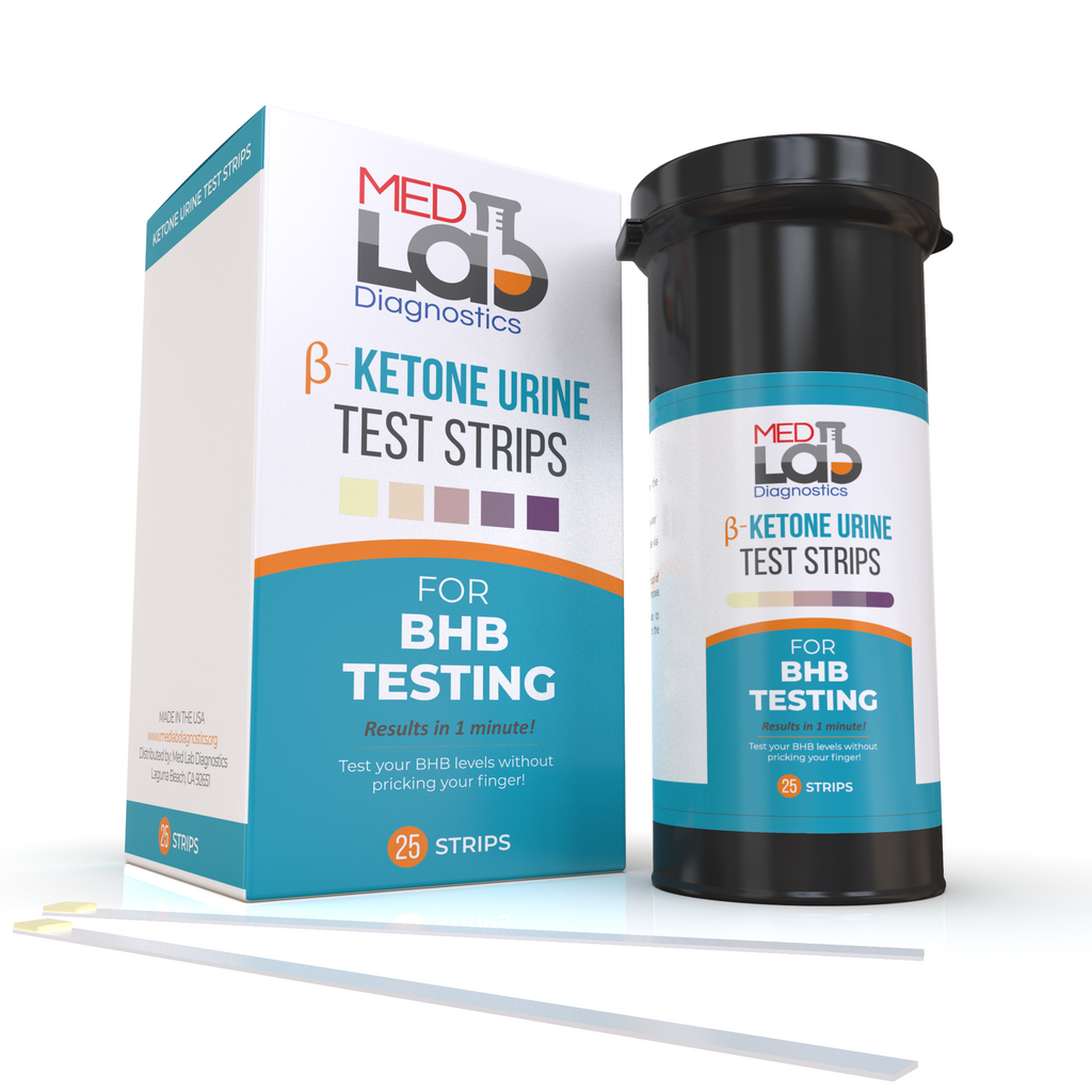 Keto Urine Test Strips for Ketone BHB Testing(25 Cnt) Made in USA. No Need for Keto Blood Monitor. First Urine BHB Test for The Keto Adapted. Exogenous Ketones Testing