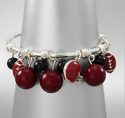 Gamecocks Cuff Charm Bracelet