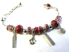 Gamecocks Quad-Charm Bracelet