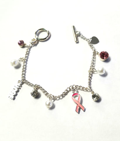 Breast Cancer Ribbon Charm