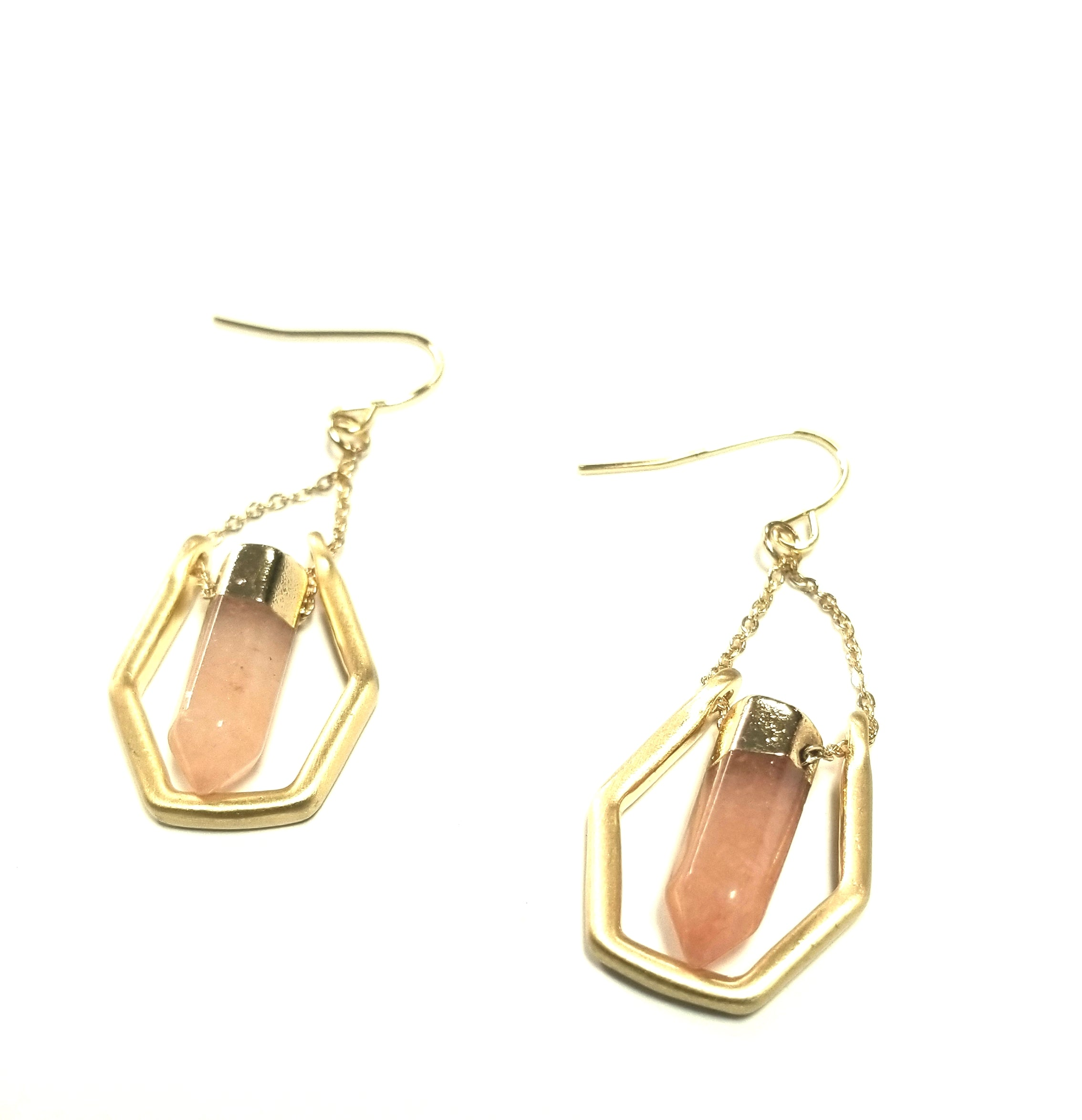 stone earrings hexagon jewellery isolde hexagonal bonas stud oliver