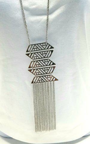 Geometric Tassel Necklace
