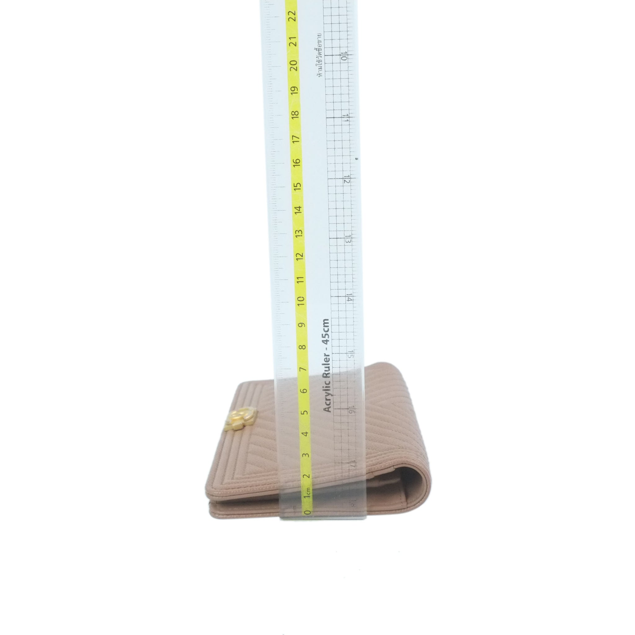 Chanel wallet on chain two tone beige black