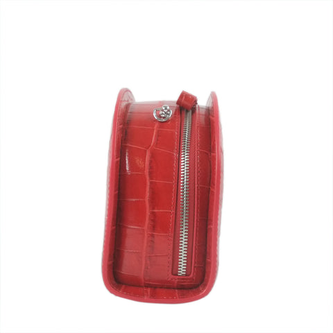 Chanel pocket cross body bag lamb dark beige