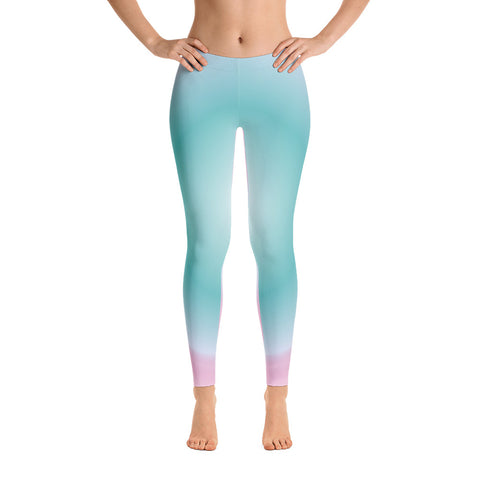 Light Pink - Blue Leggings