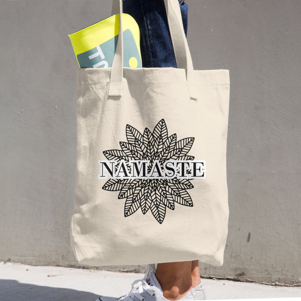 Namaste Cotton Tote Bag