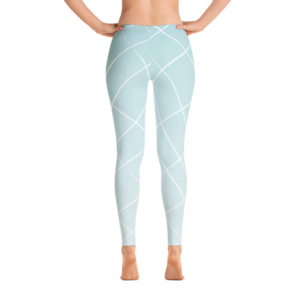 Light Blue Patterned Leggings