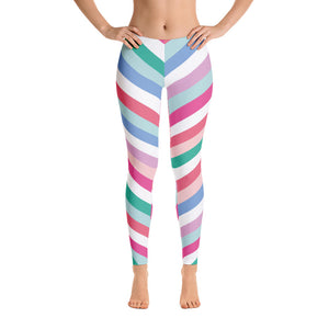 Multicolor Striped Leggings