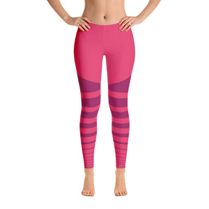 Pink Striped Leggings