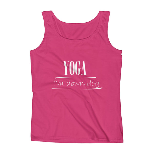 Yoga. I'm Down Dog Ladies' Tank