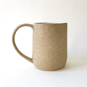 Large Pitcher - Raw Speckled Clay/White