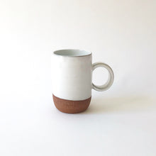 Medium Mug - Raw Red Clay/White