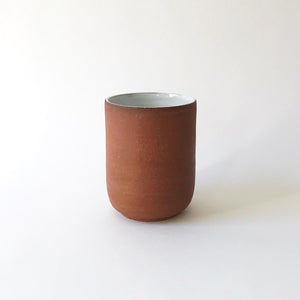 Medium Tumbler - Raw Red Clay/White