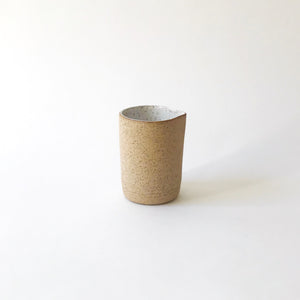 Small Creamer - Raw Speckled Clay/White