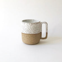 Short Mug - Raw Speckled Clay/White