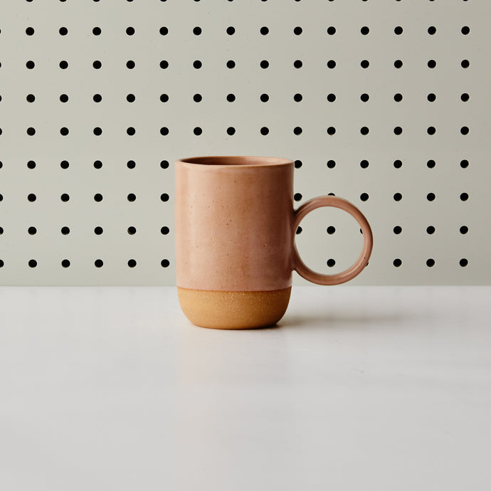 3/4 Dipped Tall Circle Mug - Pink