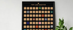 Enno Vatti Top 100 Movies poster in frame