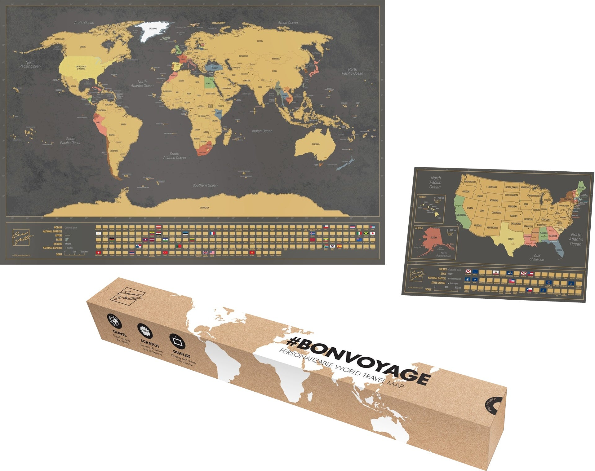 Scratch map full package