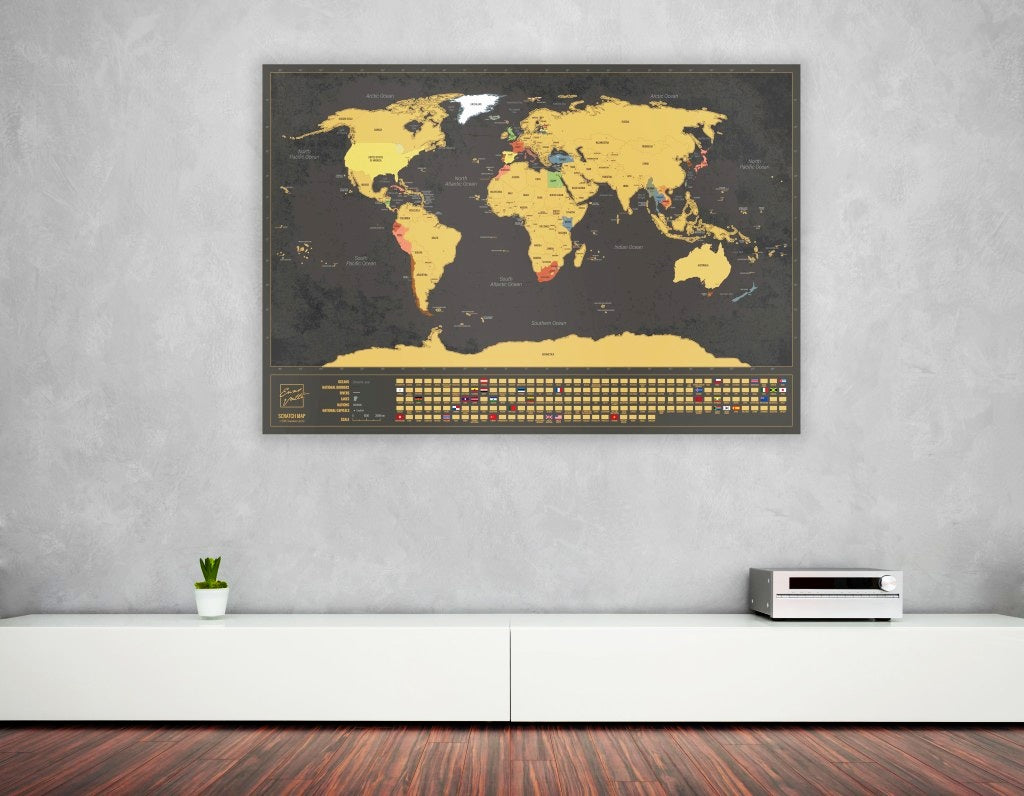 Enno Vatti map hanging on the wall