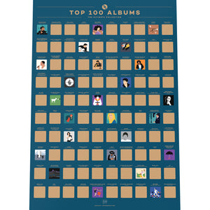 Top 100 Albums Bucket List Poster
