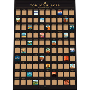 Top 100 Places Bucket List Poster