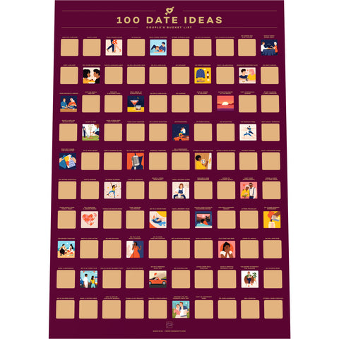 100 Date Ideas Bucket List Poster