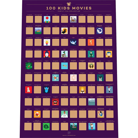 Top 100 Kids Movies Poster