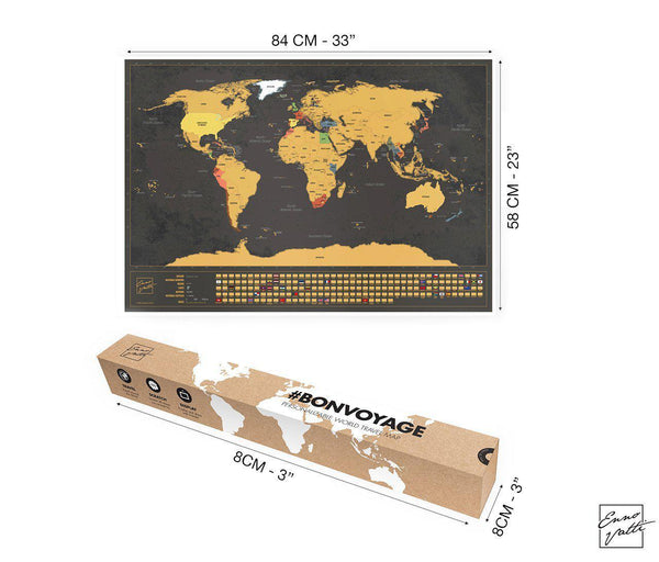 Scratch-Off World Map (English)-Enno Vatti