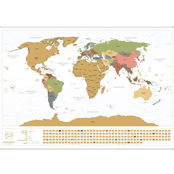 Scratch-Off World Map (White, German)-Enno Vatti