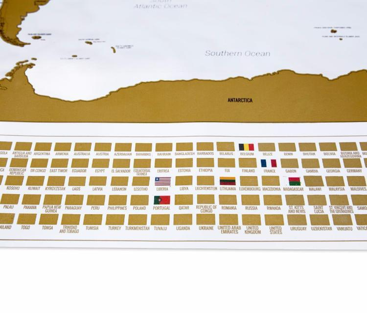 Enno Vatti Scratch Off World Map With Flags White - Scratch-us-map